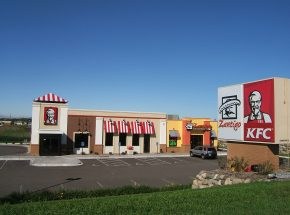 Exterior of Kentucky Fried Chicken building