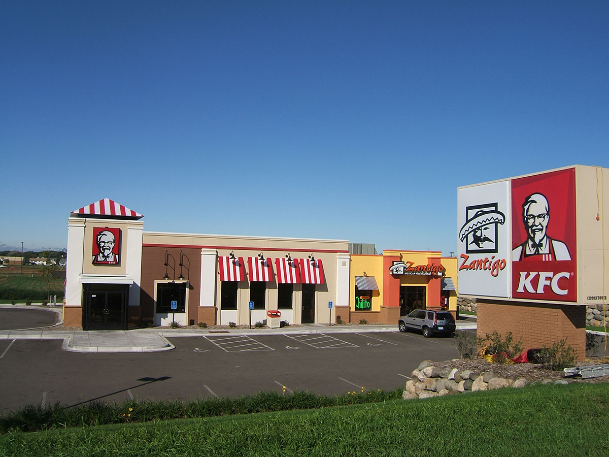Exterior of Kentucky Fried Chicken building